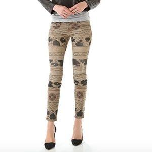 Current/Elliot Vintage Tribal Skinny Jeans